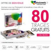 BELGIQUE : 80 tirages photo gratuits avec PHOTOWEB.fr !